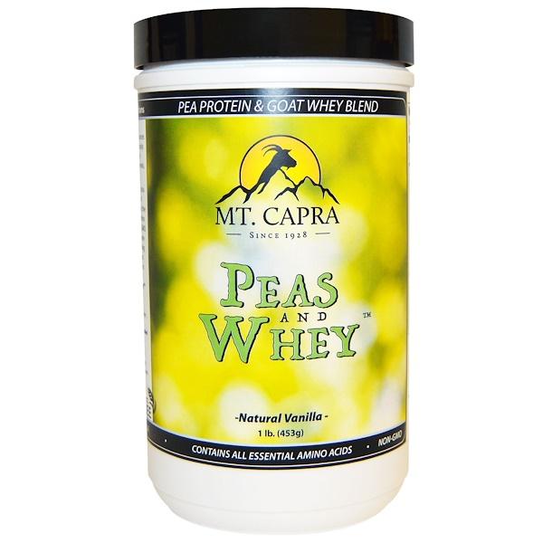 Mt. Capra, Peas & Whey, Natural Vanilla, 1 lb (453 g) (Discontinued Item)