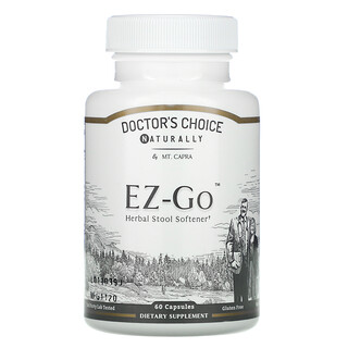 Mt. Capra, Doctors Choice EZ-GO, Herbal Stool Softener, 60 Capsules