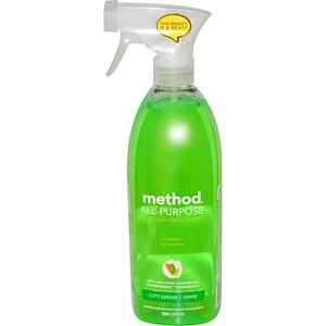 Метод, All-Purpose Natural Surface Cleaner, Cucumber, 28 fl oz (828 ml) отзывы покупателей
