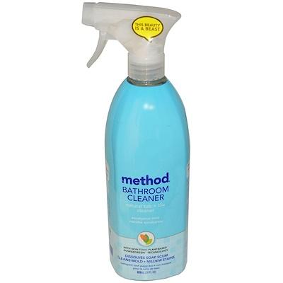 Bathroom Cleaner, натуральное средство для чистки ванны и плитки, эвкалипт и мята, 828 мл