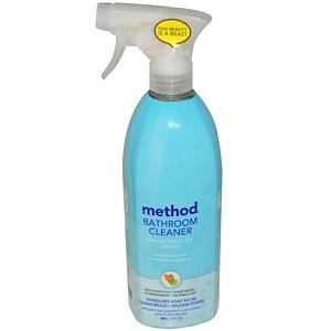 Метод, Bathroom Cleaner, Naturally Derived Tub plus Tile Cleaner, Eucalyptus Mint, 28 fl oz (828 ml) отзывы