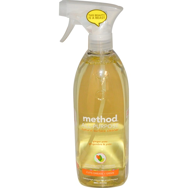 Method, All-Purpose Natural Surface Cleaner, Ginger Yuzu, 28 fl oz (828 ml) (Discontinued Item)