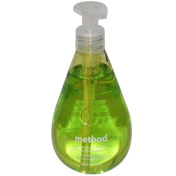 Method, 洗手液,綠茶+庫拉索蘆薈,12液體盎司(354毫升)
