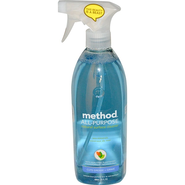 Method, All-Purpose Natural Surface Cleaner, Sea Minerals, 28 fl oz (828 ml) (Discontinued Item)
