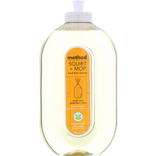 Method, Squirt + Mop, Hard Floor Cleaner, Ginger Yuzu, 25 fl oz (739 ml)