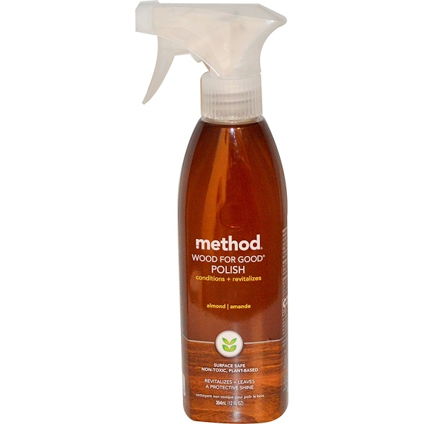 Method, Wood For Good Polish, Almond, 12 fl oz (354 ml) (Discontinued Item)