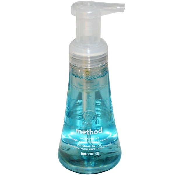 Method, Jabón para manos espumoso, Sea Minerals, 10 fl oz (300 ml)