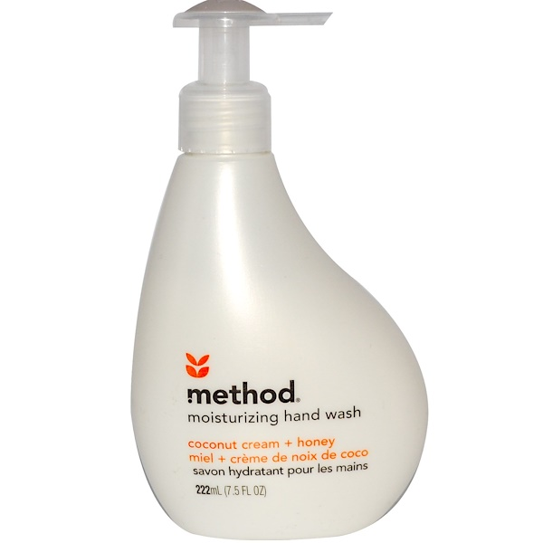 Method, Moisturizing Hand Wash, Coconut Cream + Honey, 7.5 fl oz (222 ml) (Discontinued Item)