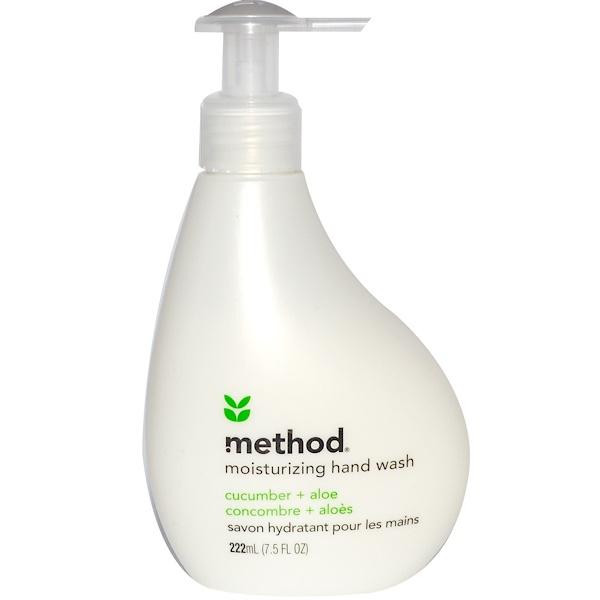 Method, Moisturizing Hand Wash, Cucumber + Aloe, 7.5 fl oz (222 ml) (Discontinued Item)