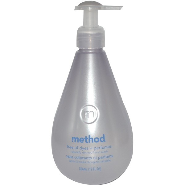 Method, Hand Wash, Free of Dyes + Perfumes, 12 fl oz (354 ml) (Discontinued Item)