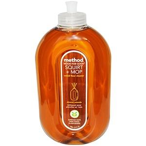 Метод, Squirt + Mop, Wood Floor Cleaner, Almond, 25 fl oz (739 ml) отзывы покупателей