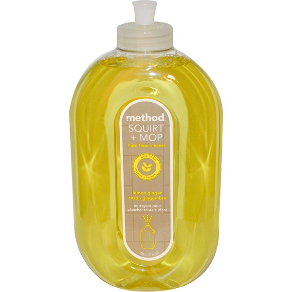 Method, Squirt + Mop, Hard Floor Cleaner, Lemon Ginger, 25 fl oz (739 ml)