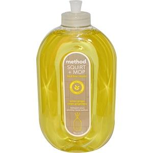Метод, Squirt + Mop, Hard Floor Cleaner, Lemon Ginger, 25 fl oz (739 ml) отзывы покупателей