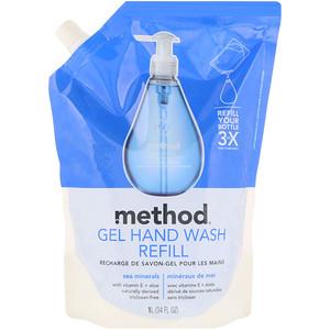 Метод, Gel Hand Wash Refill, Sea Minerals, 34 fl oz (1 l) отзывы