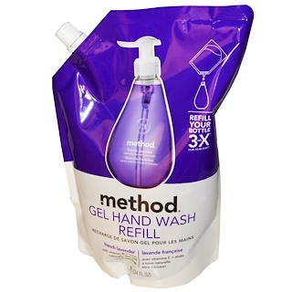 Method, Gel Hand Wash Refill, French Lavender, 34 fl oz (1 L)