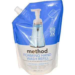 Метод, Foaming Hand Wash Refill, Sea Minerals, 28 fl oz (828 ml) отзывы покупателей