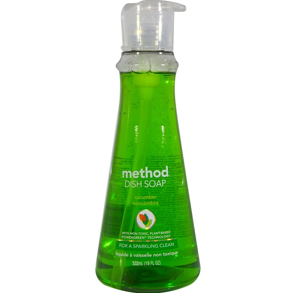 Method, Dish Soap, Cucumber, 18 fl oz (532 ml) (Discontinued Item)