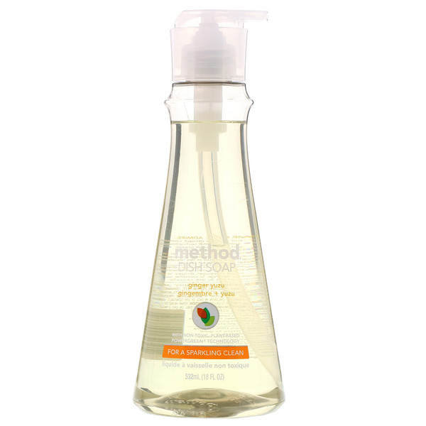Method, メソッド, Dish Soap, Ginger Yuzu, 18 fl oz (532 ml)