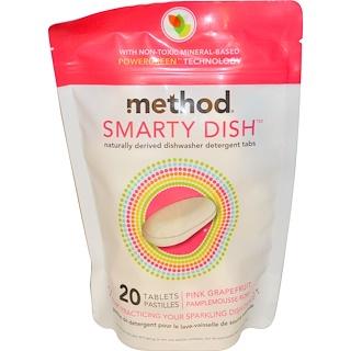 Method, Smarty Dish, Pink Grapefruit, 20 Tablets