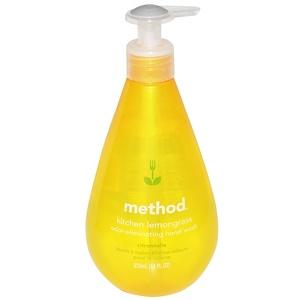 Method, Кухонное мыло для рук, устраняющее запахи, лимонная трава, 18 жидких унций (532 мл)