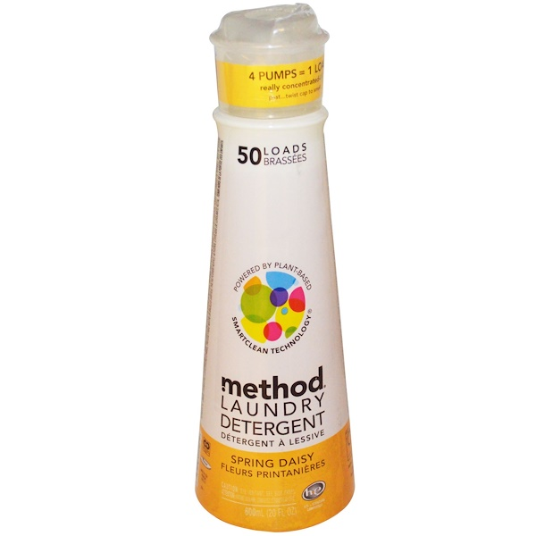 Method, Laundry Detergent, Spring Daisy, 20 fl oz (600 ml) (Discontinued Item)