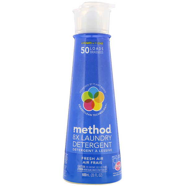 Method, 8X Laundry Detergent, Fresh Air, 20 fl oz (600 ml) (Discontinued Item)