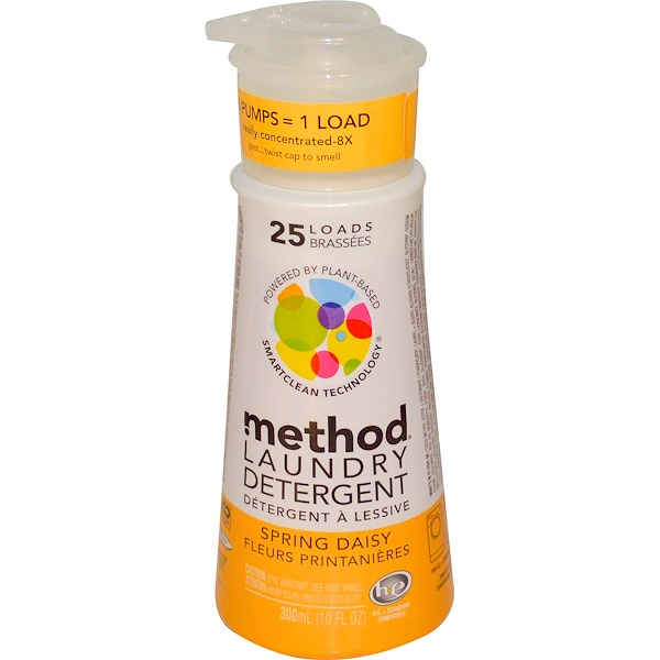 Method, Laundry Detergent, 25 Loads, Spring Daisy,  10 fl oz (300 ml) (Discontinued Item)