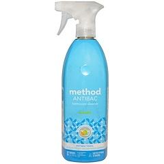 Method, Antibac, Bathroom Cleaner, Spearmint, 28 fl oz (828 ml)