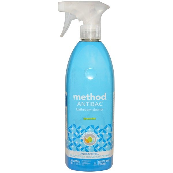 Method, Antibac, Bathroom Cleaner, Spearmint, 28 fl oz (828 ml) (Discontinued Item)