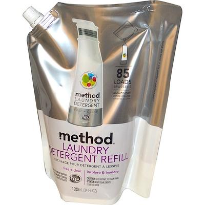 Method 洗衣液補充裝, 85 次量, 34 液體盎司 (1000 毫升)