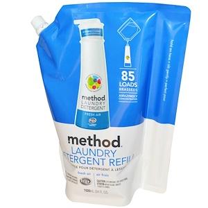 Method, Жидкий стиральный порошок, 85 стирок с ароматом свежего воздуха, 34 жидкие унции (1020 мл) инструкция, применение, состав, противопоказания
