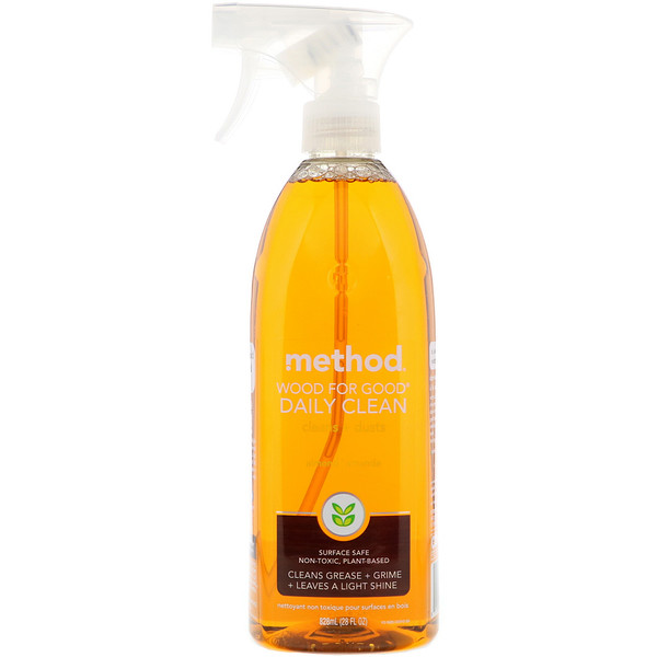 Method, Wood For Good Daily Clean, Almond, 28 fl oz (828 ml)