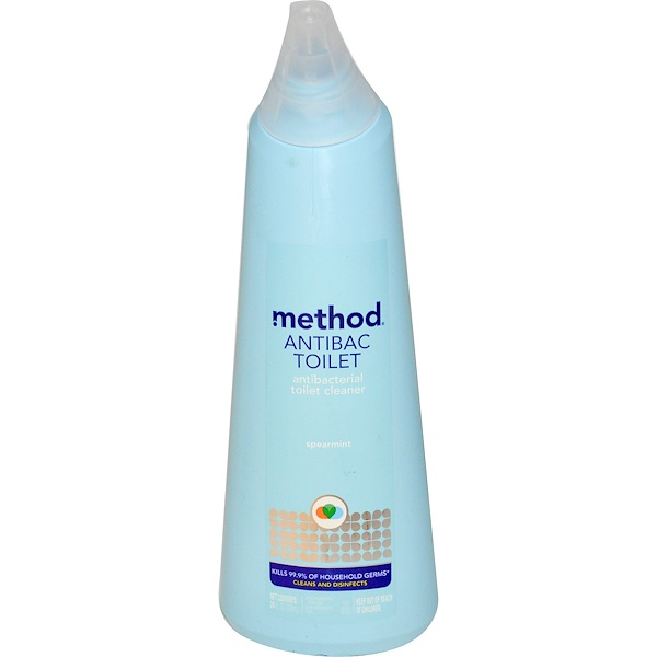 Method, Antibac Toilet, Spearmint, 24 fl oz (709 ml) (Discontinued Item)