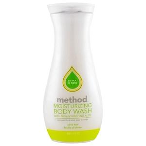 Method, Увлажняющее средство для мытья тела, оливковый лист, 18 жидких унций (532 мл) инструкция, применение, состав, противопоказания