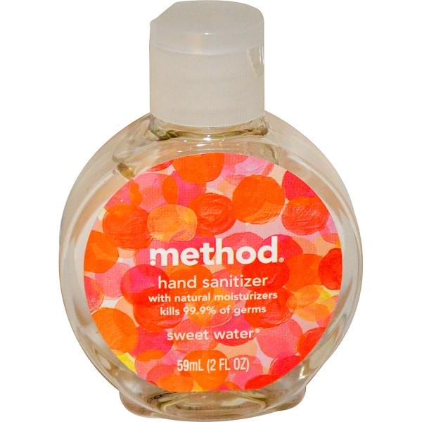 Method, Hand Sanitizer, Sweet Water, 2 fl oz (59 ml) (Discontinued Item)