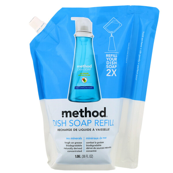 Method, Dish Soap Refill, Sea Minerals, 36 fl oz (1.06 l) (Discontinued Item)