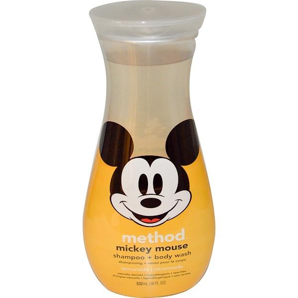 Method, Mickey Mouse Shampoo + Body Wash, Lemonade, 18 fl oz (532 ml) (Discontinued Item)
