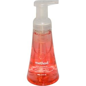 Method, Пенящаяся жидкость для мытья рук, розовый грейпфрут, 10 жидких унций (300 мл) инструкция, применение, состав, противопоказания