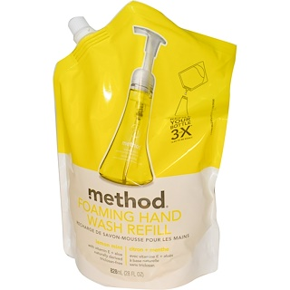 Method, Foaming Hand Wash Refill, Lemon Mint, 28 fl oz (828 ml)