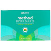 Method, Dryer Sheets, Beach Sage, 80 Sheets