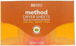 Метод, Dryer Sheets, Ginger Mango, 80 Sheets отзывы