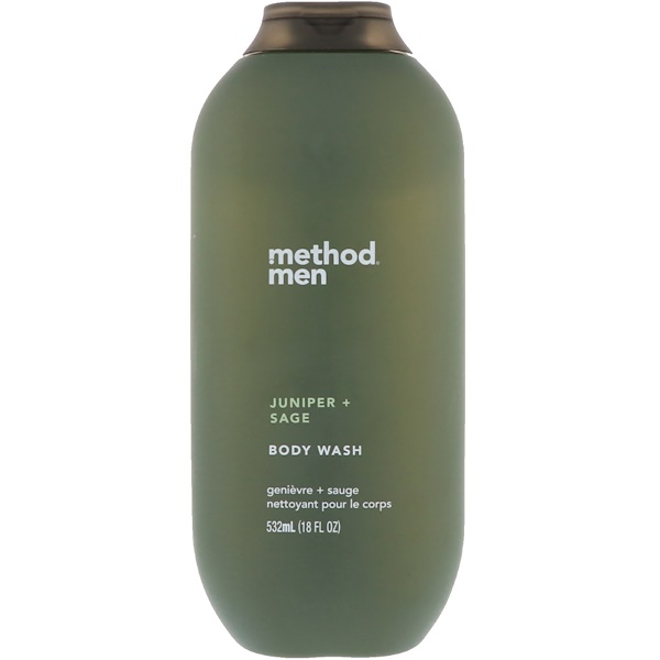 Method, Hommes, Gel douche, Genévrier + Sauge, 18 fl oz (532 ml) (Discontinued Item)