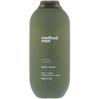 Method, Men, Body Wash, Cedar + Cypress, 18 fl oz (532 ml)