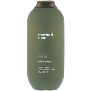 Метод, Men, Body Wash, Cedar + Cypress, 18 fl oz (532 ml) отзывы покупателей