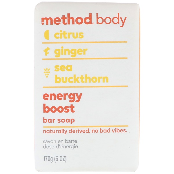 Method, 身體,肥皂,能量提升,6盎司(170克) (Discontinued Item)