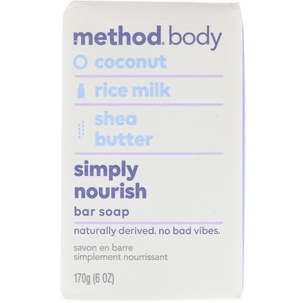 Method, Body, Simply Nourish, Bar Soap, 6 oz (170 g) (Discontinued Item)