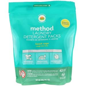 Метод, Laundry Detergent Packs, Beach Sage, 42 Loads, 24.7 oz (700 g) отзывы покупателей