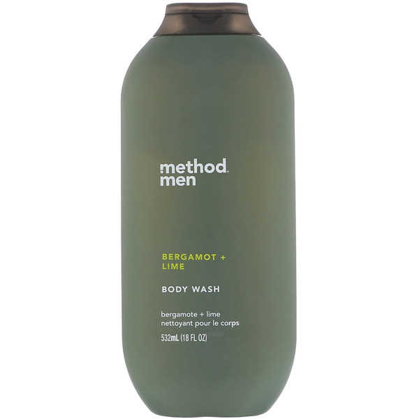 Method, Men, Body Wash, Bergamot + Lime, 18 fl oz (532 ml) (Discontinued Item)
