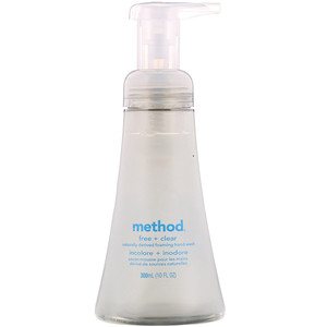 Метод, Naturally Derived Foaming Hand Wash, Free + Clear, 10 fl oz (300 ml) отзывы