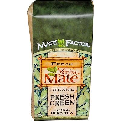 Купить Органический Йерба Мате, Свежий зеленый листовой травяной чай, 12унций (340г)